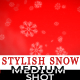 Snow falling on Red Background - Medium Shot - VideoHive Item for Sale