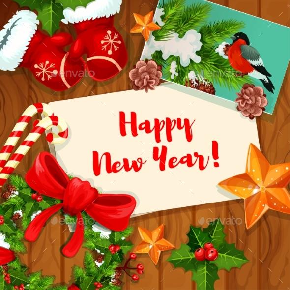 Wnter Holiday Greeting Card Design