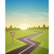 Asphalt Road Over Field - GraphicRiver Item for Sale