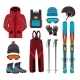 Skiing Equipment Vector Icons. - GraphicRiver Item for Sale
