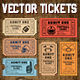Vector Editable Football Tickets - GraphicRiver Item for Sale