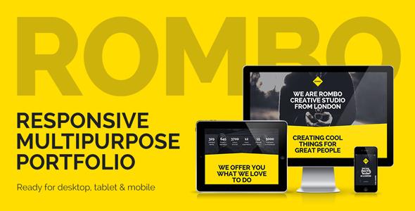 Rombo - responsywny uniwersalny szablon Muse Portfolio
