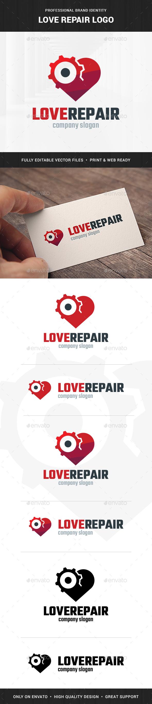 Love Repair Logo Template