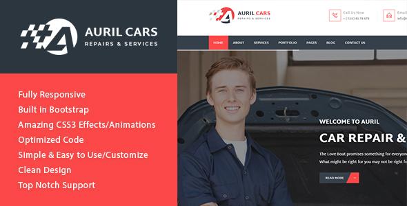 Auril - Car Mechanic Workshop HTML Template