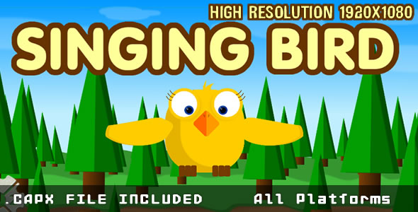 Singging Bird + HTML5 + (.CAPX) MOBILE