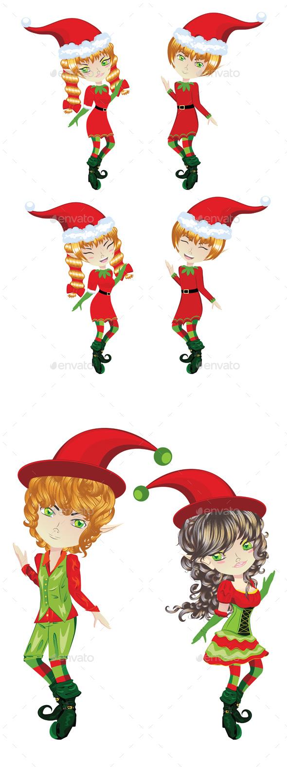 Cute Xmas Elves