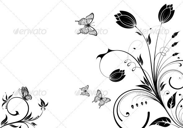 Illustration And Wallpaper Vector Swirls Flourishes