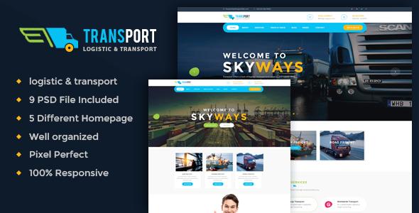 Transport - Logistics / Transportation Business PSD Template