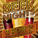 Beer Night Flyer Template - GraphicRiver Item for Sale