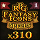 310 RPG Fantasy Spells Icons Bundle - GraphicRiver Item for Sale