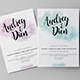 Watercolour Wedding Invitation Set - GraphicRiver Item for Sale