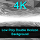 Low Poly Double Horizon - White / Background - VideoHive Item for Sale