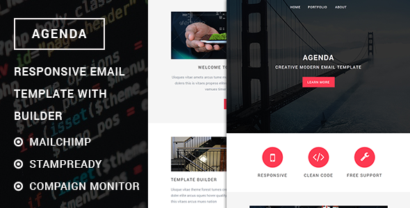 Agenda - Responsive email template with stampready builder