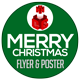Merry Christmas Flyer and Poster Template - GraphicRiver Item for Sale