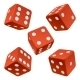 Red dice set. Vector icon - GraphicRiver Item for Sale
