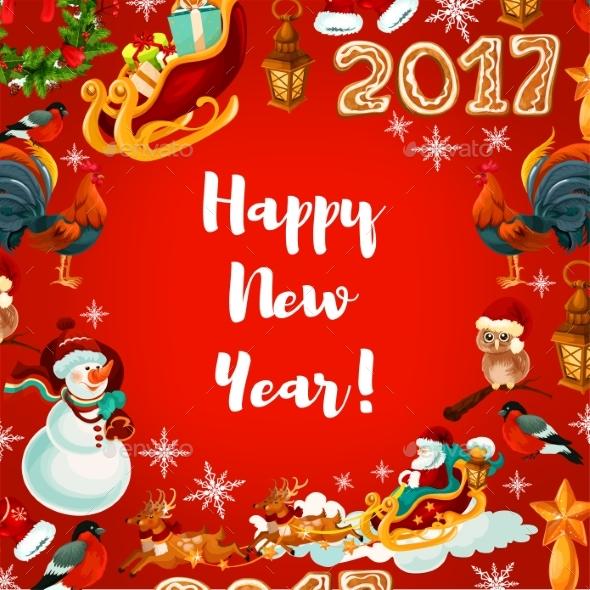 New Year Festive Poster Design