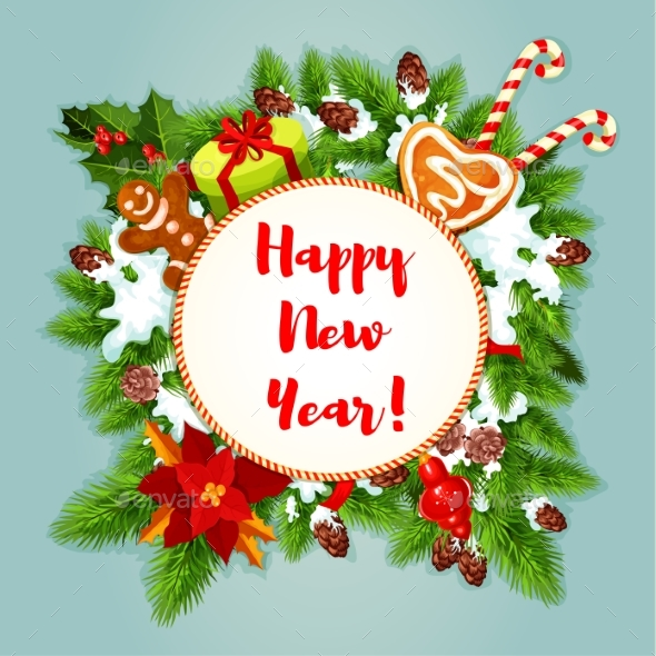New Year Greeting Card or Poster