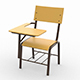 Folding School Chair - VideoHive Item for Sale