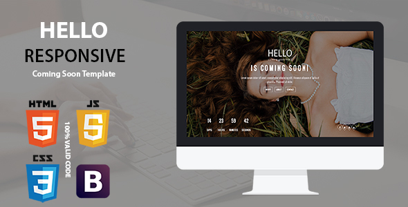 Hello - Responsive Coming Soon Template