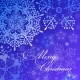 Vector Merry Christmas Blue Shiny Background - GraphicRiver Item for Sale
