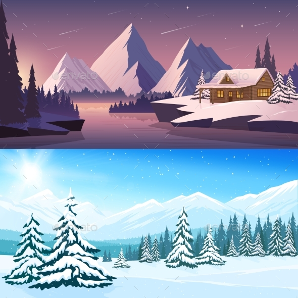 Winter Landscape Horizontal Banners