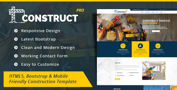 Construction - HTML5/Bootstrap Template
