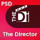 The Director - Film Director & Video Portfolio PSD Template - ThemeForest Item for Sale