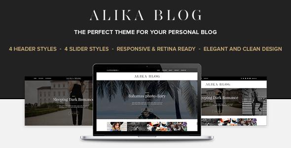 Alika - Personal WordPress Blog Theme