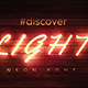 PSD Neon Font Mock-up - GraphicRiver Item for Sale