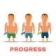 Cartoon Guy Fit Progress - GraphicRiver Item for Sale