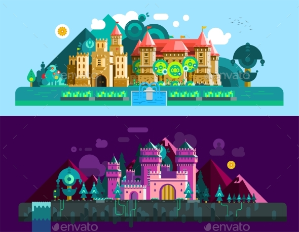 Castles Horizontal Banners