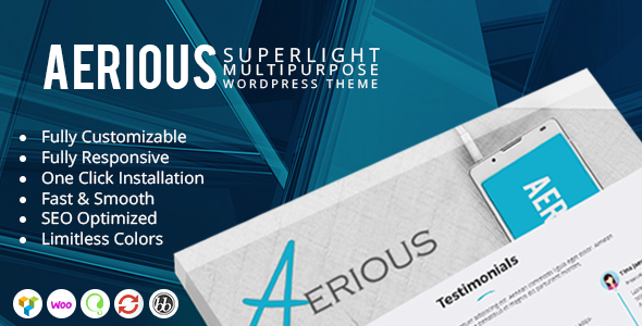 Aerious - Super Light Multipurpose WordPress Theme