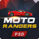 Moto Rangers   PSD Template - ThemeForest Item for Sale