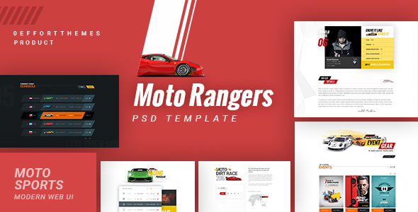 Moto Rangers | PSD Template