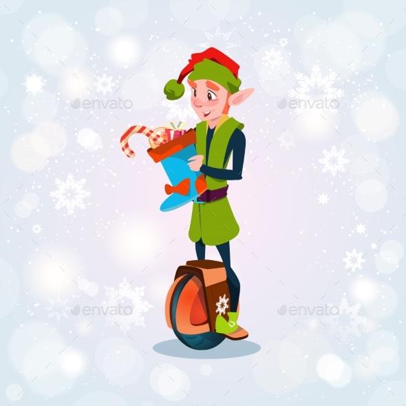 Green Elf Ride Electric Mono Wheel Christmas