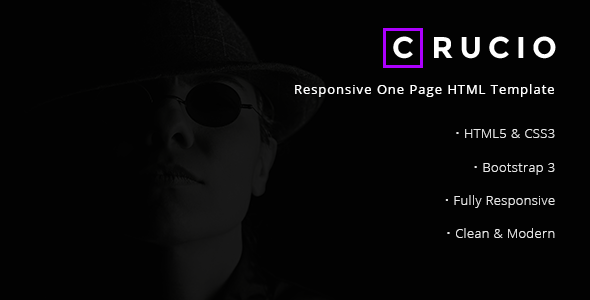 Crucio - Responsive One Page HTML Template
