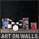 Art On Walls Mockup - Canvas Mockups - Frame Mockups - Wall Mockups Vol 8 - GraphicRiver Item for Sale
