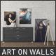 Art On Walls Mockup - Canvas Mockups - Frame Mockups - Wall Mockups Vol 9 - GraphicRiver Item for Sale