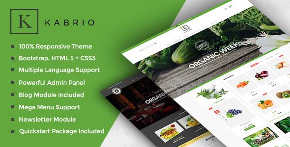 Kabrio - Food  Store Responsive OpenCart Theme