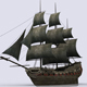 Old sailing warship - 3DOcean Item for Sale