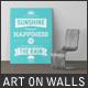 Art On Walls Mockup - Canvas Mockups - Frame Mockups - Wall Mockups Vol 10 - GraphicRiver Item for Sale