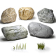Stones & grass - 3DOcean Item for Sale