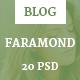 Faramond - Creative Blog Template - ThemeForest Item for Sale