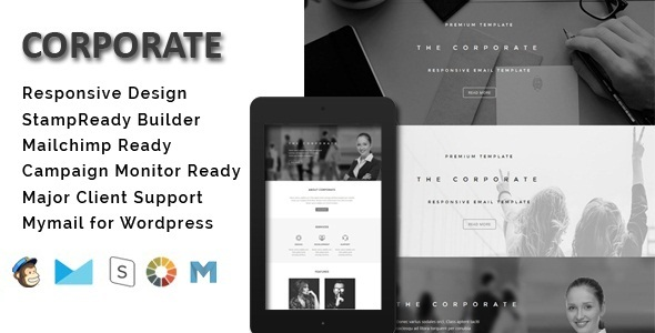 Corporate – Responsive Email Template + Stamp Ready Builder