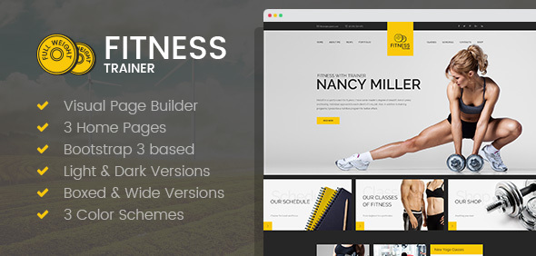 Sport Trainer - Yoga and Crossfit HTML template with Builder