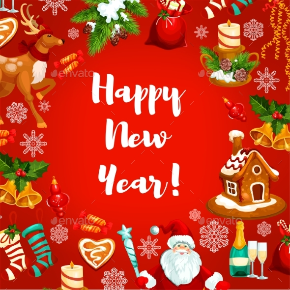 New Year Poster or Greeting Card Design