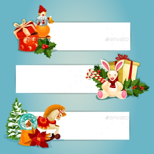 Holiday Toys Banners Set Design