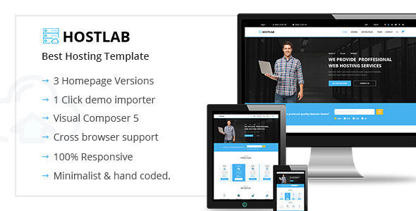 HostLab - Hosting & Technology WordPress Theme
