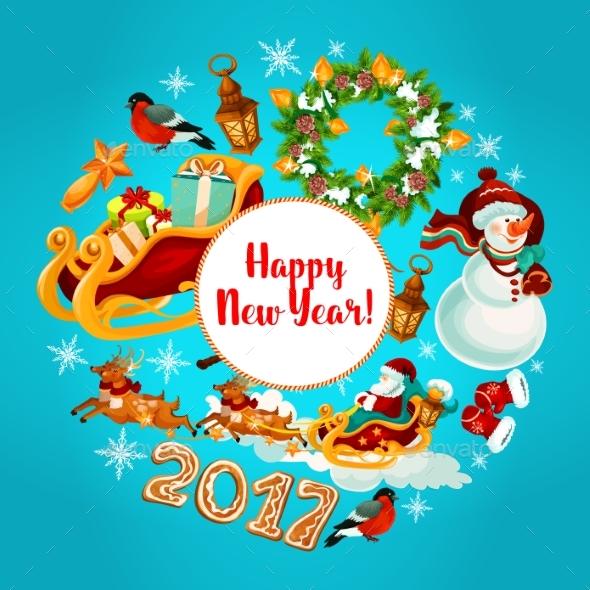 New Year Winter Holidays Design