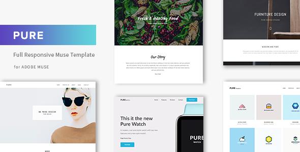 Pure - responsywny kreatywny szablon Muse Portfolio